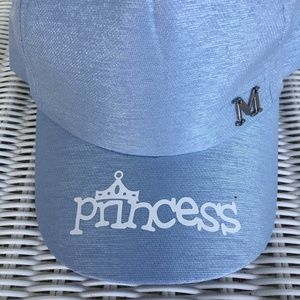 Child's Blue Baseball Cap With Large Bow